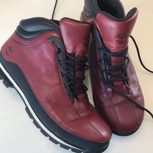 Mens Timberland red boots